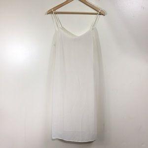 Tory Burch Ivory Sheer Slip Dress